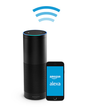 amazon echo always ready connected and fast just ask. Black Bedroom Furniture Sets. Home Design Ideas