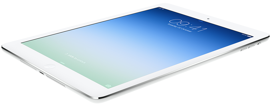 iPad Air weighs less than half a kilo, and it's 20 per cent thinner