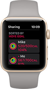 Apple Watch activity sharing