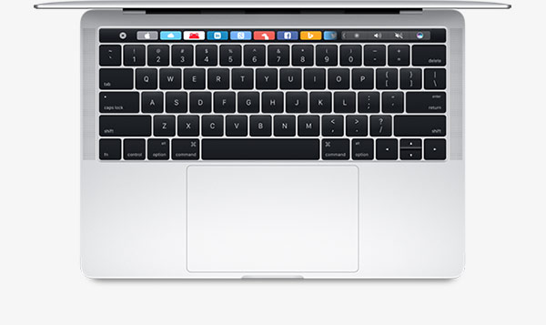 Macbook Pro 13 inch model with Touch Bar
