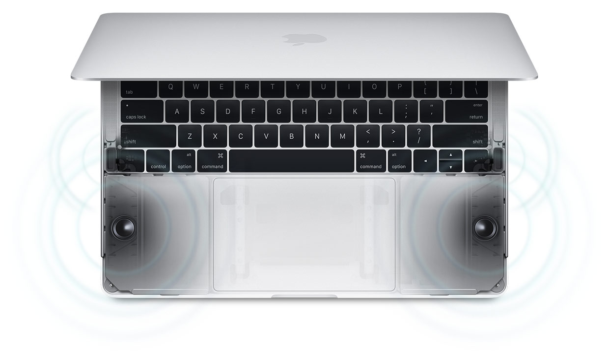 MacBook Pro with improved speakers