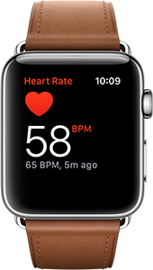 Apple Watch with heart rate sensor