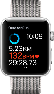 Apple Watch with heart sensor