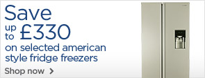 Save on American style fridge freezers