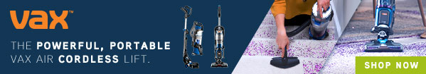 Save £110 on selected cordless vacuum cleaners