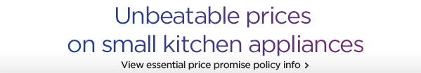 Unbeatable prices on small kitchen appliances