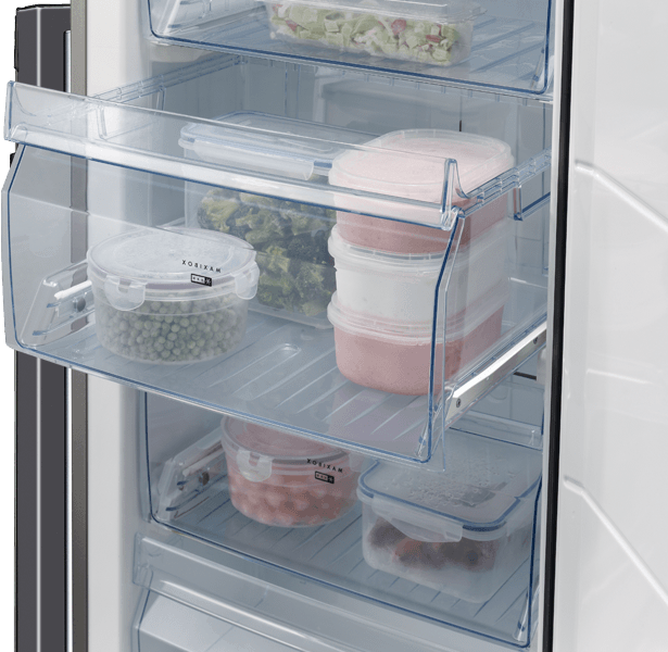 Upright freezer compartment