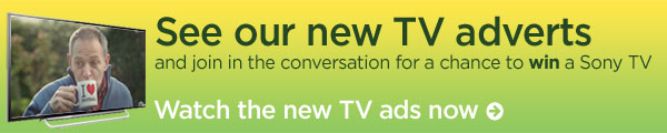 See our new TV adverts and join in the conversation for a chance to win a Sony TV