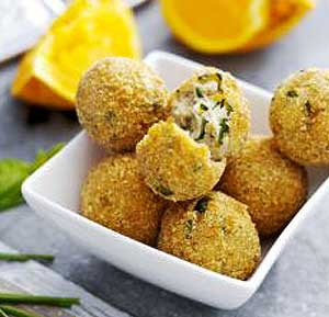 Ricotta Balls with Basil recipe using a fryer