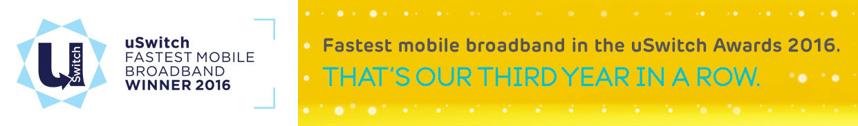 Fastest mobile broadband - Award winner