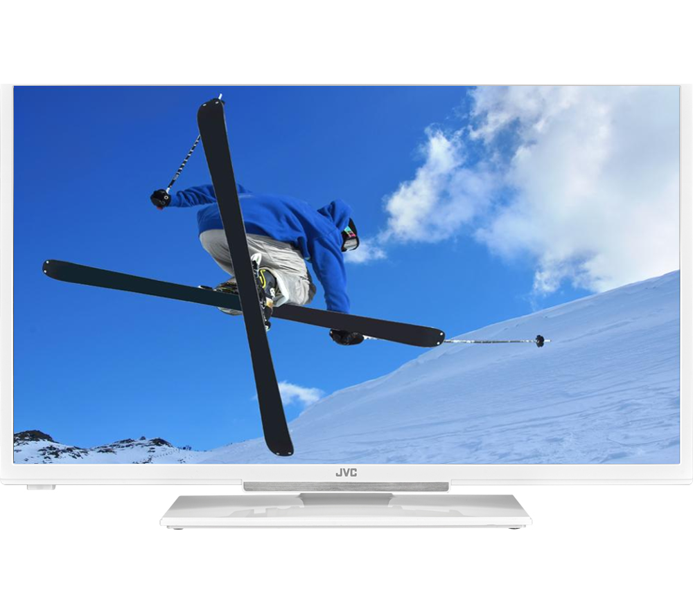 32 JVC  LT32C666 Smart  LED TV with Builtin DVD Player  White White