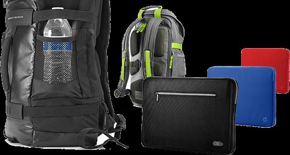 HP Backpacks, laptop bags and sleeves