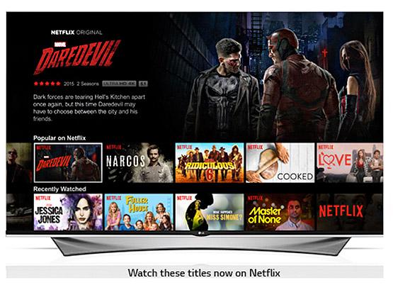 Netflix on LG UHD TVs