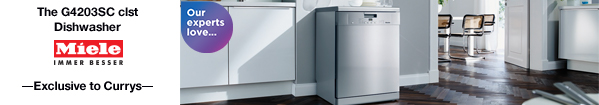 The G4203SC CLST Dishwasher - Exclusive to Currys