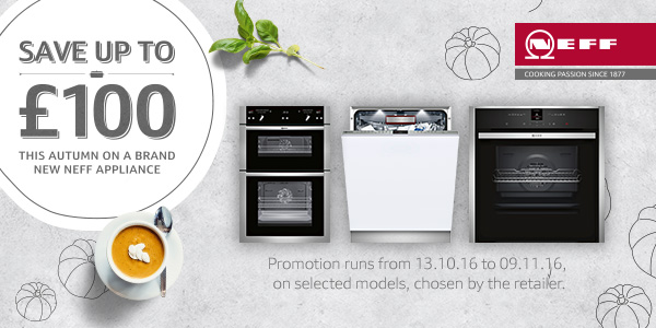 Save up to £100 on selected neff appliances