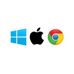 Windows, Apple, Chrome