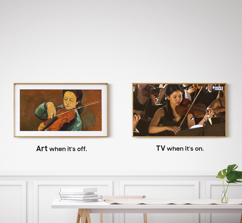Art when it is off. TV when it's off.
