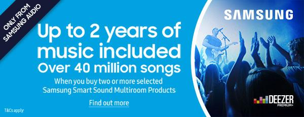 Samsung Audio and Deezer