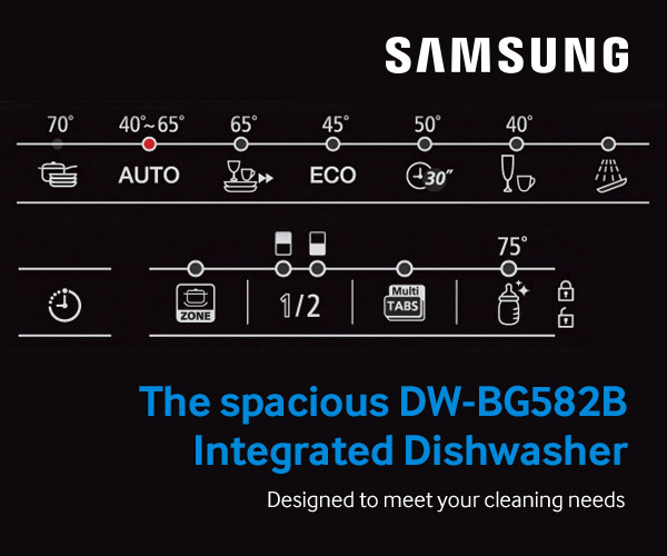 Samsung integrated dishwashers