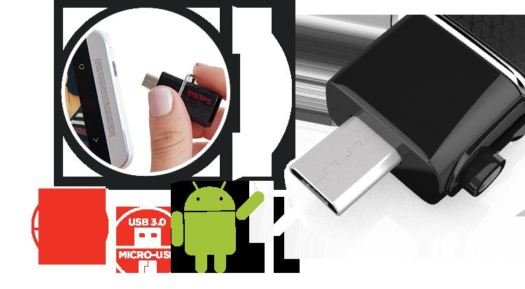 SanDisk Ultra Dual USB close up