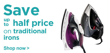 Save up to half price on traditional irons