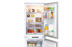 Integrated fridge freezer