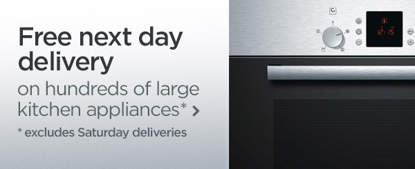 Free next day delivery on hundreds of large kitchen appliances