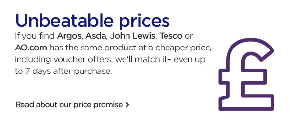 Unbeatable prices with our price promise